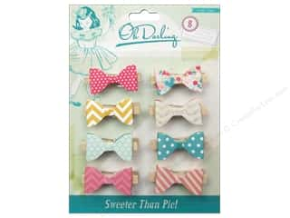 Crate Paper Wood Shapes: Crate Paper Embellishments Oh Darling Clothespins Layer Bow