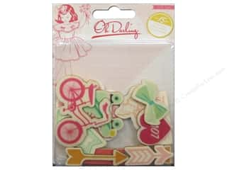 Wood Scrapbooking & Paper Crafts: Crate Paper Embellishments Oh Darling Printed Wood Shapes