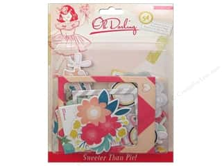 Paper Doilies Hot: Crate Paper Stickers Oh Darling Chipboard Accent