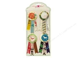 Crate Paper Dimensional Stickers: Crate Paper Stickers Maggie Holmes Styleboard Prize Ribbon