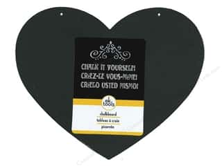Chalk $6 - $8: EK Decor Die Cut Chalk Board Medium Heart