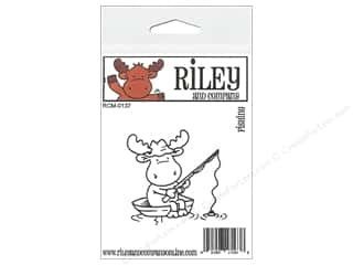 Outdoors Stamps: Riley & Company Cling Stamps Fishing