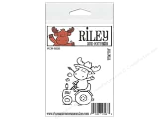 Hats Straw Hats: Riley & Company Cling Stamps Tractor