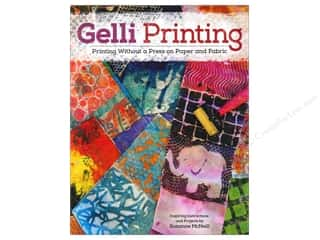 Quilt Stencil  Background: Design Originals Gelli Printing Book