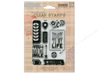Rubber Stamping Everything You Love Sale: BasicGrey Clear Stamps 11 pc. Grand Bazaar You Make Smile