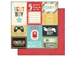 Carta Bella 12 x 12 in. Paper Boy Oh Boy Journaling Card (25 piece)