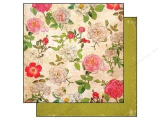 Carta Bella 12 x 12 in. Paper Moments Large Floral (25 piece)