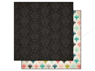 Carta Bella 12 x 12 in. Paper Moments Black Damask (25 piece)