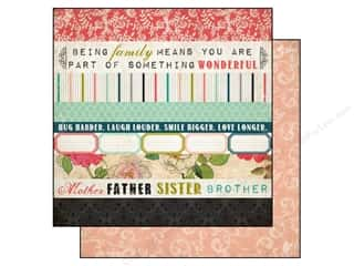 Carta Bella Family: Carta Bella 12 x 12 in. Paper Moments & Memories Border Strip (25 pieces)