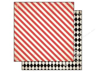 Carta Bella 12 x 12 in. Paper Moments Diagonal Stripe (25 piece)