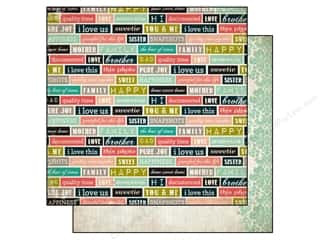 Carta Bella 12 x 12 in. Paper Moments Family Words (25 piece)