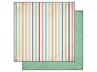 Cards Family: Carta Bella 12 x 12 in. Paper Moments & Memories Small Stripe (25 pieces)