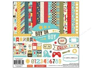 Carta Bella Carta Bella Collection Kit: Carta Bella Collection Kit 12 x 12 in. Boy Oh Boy