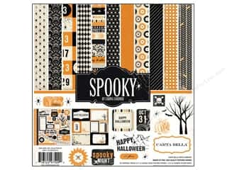 Carta Bella Caption Stickers / Frame Stickers: Carta Bella Collection Kit 12 x 12 in. Spooky