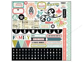 Carta Bella Family: Carta Bella Sticker 12 x 12 in. Moments & Memories Element (15 sets)