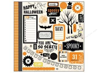 Carta Bella Halloween: Carta Bella Sticker 12 x 12 in. Spooky Element (12 sets)