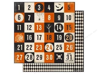 Carta Bella inches: Carta Bella 12 x 12 in. Paper Spooky Halloween Countdown (25 sheets)