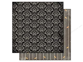 Carta Bella Halloween: Carta Bella 12 x 12 in. Paper Spooky Damask (25 pieces)