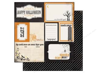 Carta Bella Halloween: Carta Bella 12 x 12 in. Paper Spooky Journaling Card (25 pieces)