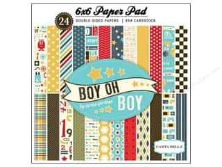 Carta Bella Carta Bella Paper Pad: Carta Bella 6 x 6 in. Paper Pad Boy Oh Boy