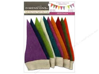 NEW EK Jolees Boutique Embellishments: Dimensions 100% Wool Felt Embl Mini Pennant Banner