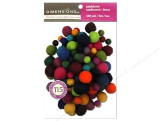 Dimensions 100% Wool Felt Embellishment Ball Assorted Value Pack