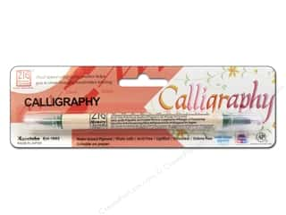 Zig Calligraphy Pen Pkg Evergreen