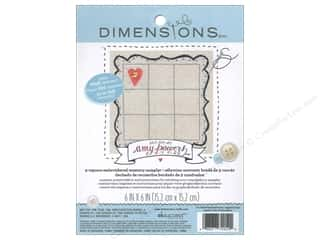 Sublime Stitching $6 - $9: Dimensions Fabric Base Embroidery Memory Sampler Amy Powers