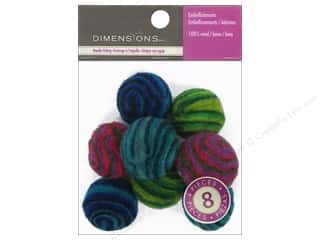 Wool Brown: Dimensions 100% Wool Felt Embellishment Swirled Balls
