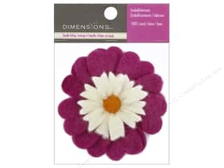 Dimensions Wool Felting Supplies: Dimensions 100% Wool Felt Embellishment Heart Flower