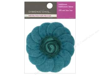 Beads Felting: Dimensions 100% Wool Felt Embellishment Swirl Flower