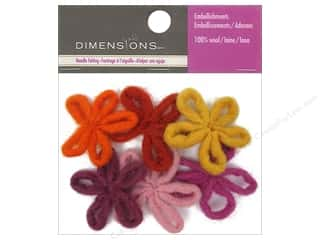 Beads Felting: Dimensions 100% Wool Felt Embellishment Mini Loop Flowers