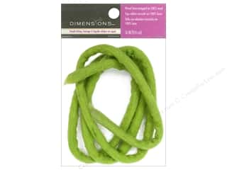 Beads Felting: Dimensions 100% Wool Felt Embellishment Wired Stem Light Green