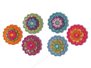 Jesse James Buttons Sewing & Quilting: Jesse James Dress It Up Embellishments Floral Revolution