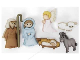Religious Subjects $6 - $10: Jesse James Dress It Up Embellishments Nativity