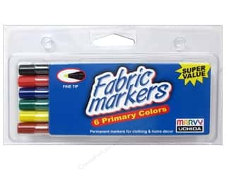 Uchida Fabric Painting & Dying: Uchida Fabric Marker Set Fine 6pc Primary