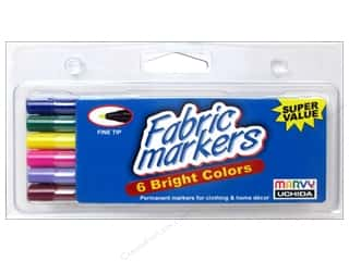 Uchida Fabric Marker Set Fine 6pc Bright