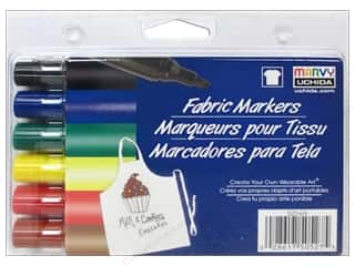 Uchida Fabric Marker Set Broad 6pc Primary