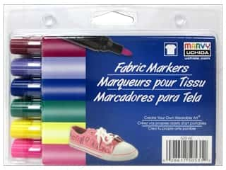 Uchida Fabric Marker Set Broad 6pc Bright