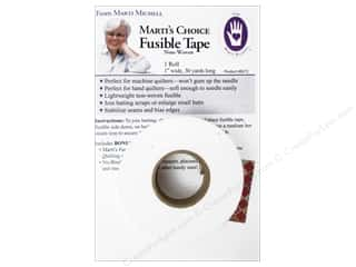 "Bonded Batting: Marti Michell Fusible Tape 1""x 30yd"