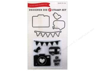 Clearance Blumenthal Favorite Findings $5 - $38: Echo Park Die & Stamp Set Fine & Dandy Oh Happy Day