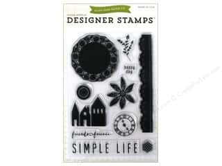 "Acrylic Shape 11"": Echo Park Clear Stamp Set Simple Life"