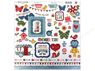 Tabs Animals: Echo Park Sticker 12 x 12 in. Fine And Dandy Collection Element (15 sets)