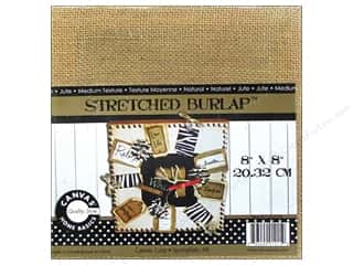 Canvas Home Basics Stars: Canvas Corp Stretched Burlap 8 x 8 in. Blank