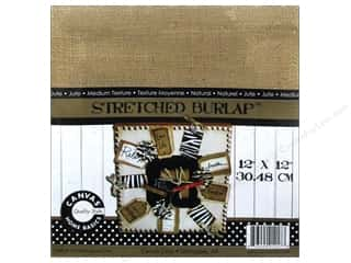 Staple Basic Components: Canvas Corp Stretched Burlap 12 x 12 in. Blank