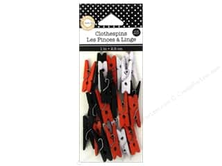 Wood Basic Components: Canvas Corp Mini Clothespins 25 pc. Halloween