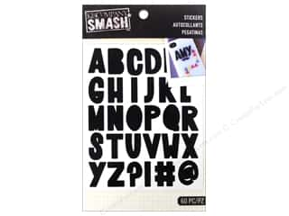 K&Co Smash Stickers Alphabet Black