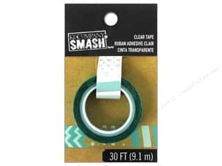 Glues, Adhesives & Tapes Blue: K&Company Smash Clear Tape Dots and Stripes Blue