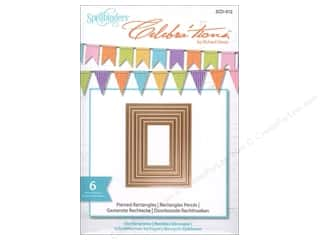 "Spellbinders 6"": Spellbinders Celebrations Die Pierced Rectangle"