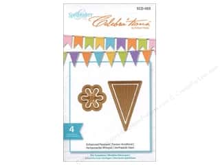"Spellbinders 6"": Spellbinders Celebrations Die Enhanced Pennants"